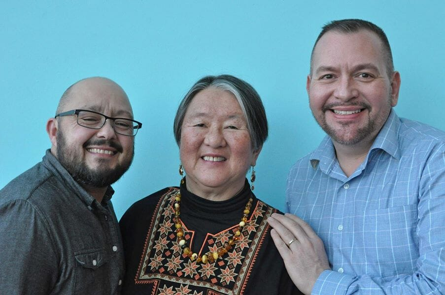 Photo of Brian Brunius, Christopher Tellez, and Phyllis Lei Furumoto