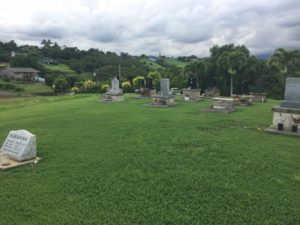 Photo of the Kapaa-Kealia Cemetery on Kauai where Phyllis Lei Furumoto's ashes will be interred on November 24, 2019