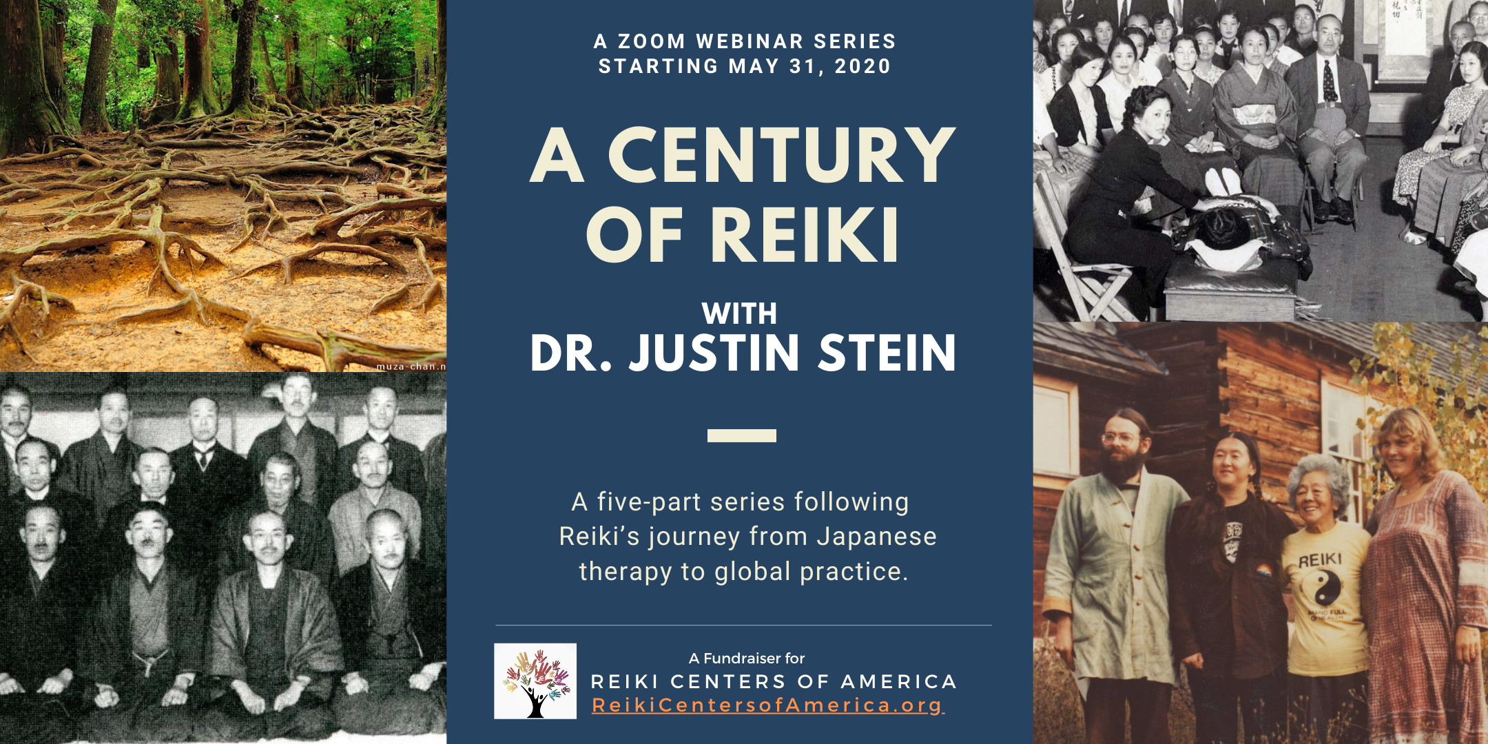A Century of Reiki: A five part Webinar series hosted by Dr. Justin Stein