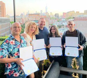 Photo of 2021 Certified Reki Practitioner graduates with Brian Brunius, NYC Reiki Center